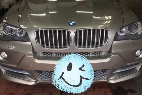 BMW X5 ヘッドライトポリッシュ コーティング後