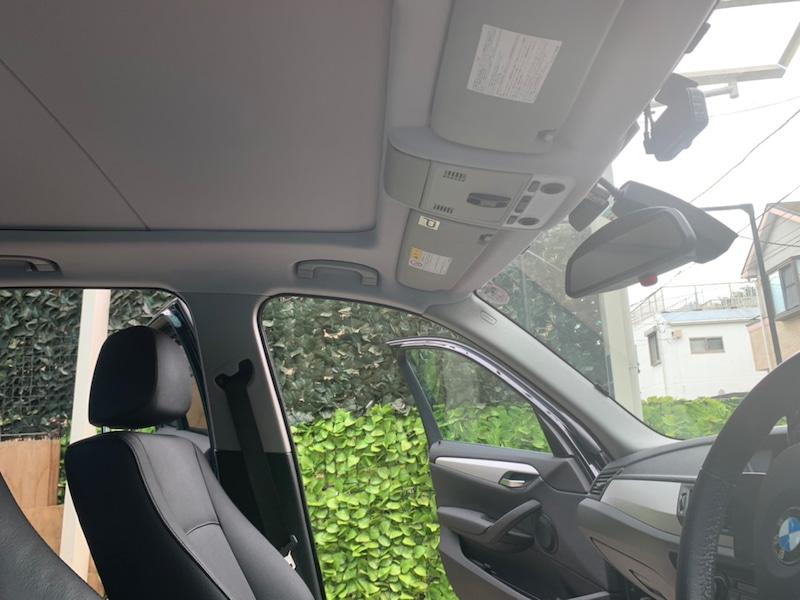 BMW X1の天井張り替え後