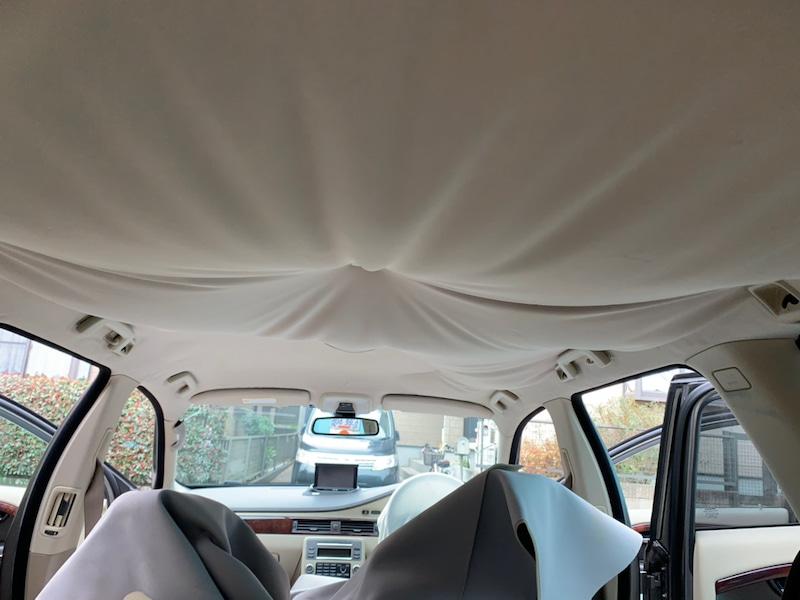 ボルボ XC70 天井の垂れ・剥がれ