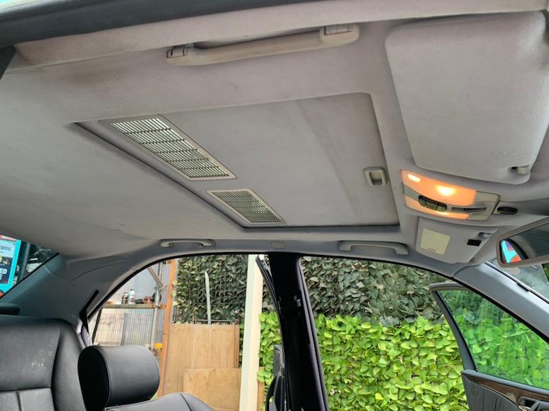 メルセデスベンツ E320 W210 天井の垂れ・剥がれ