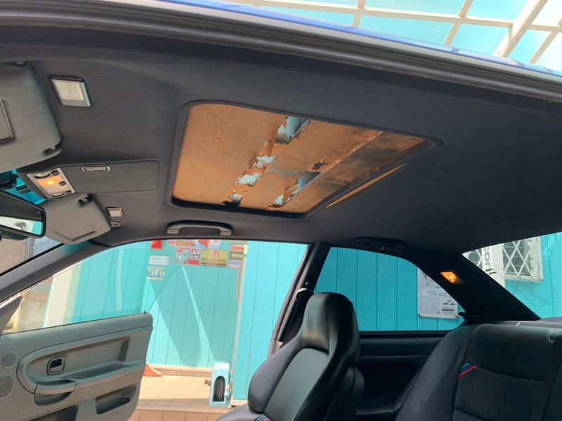 BMW E36 M3天井の剥がれ