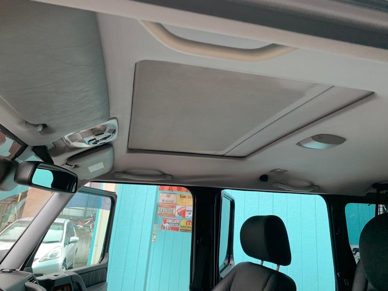 メルセデスベンツ G55 天井の垂れ・剥がれ