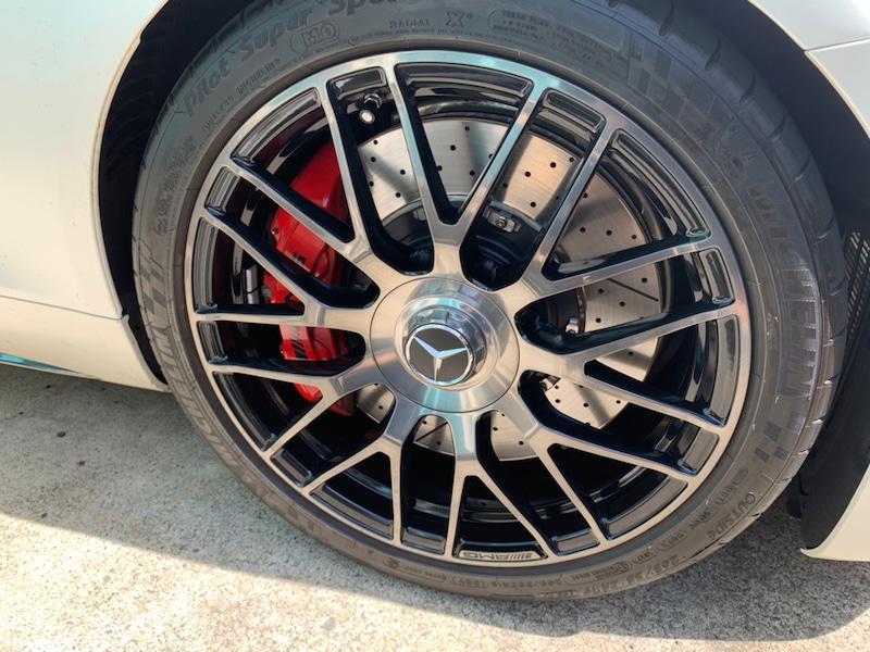 メルセデスベンツ GT ホイールのガリ傷補修後