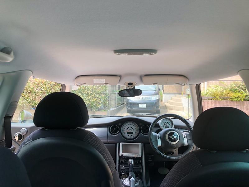 BMWミニ 天井の天井張り替え後