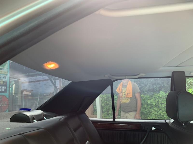 メルセデスベンツ E280 W124 天井張り替え後